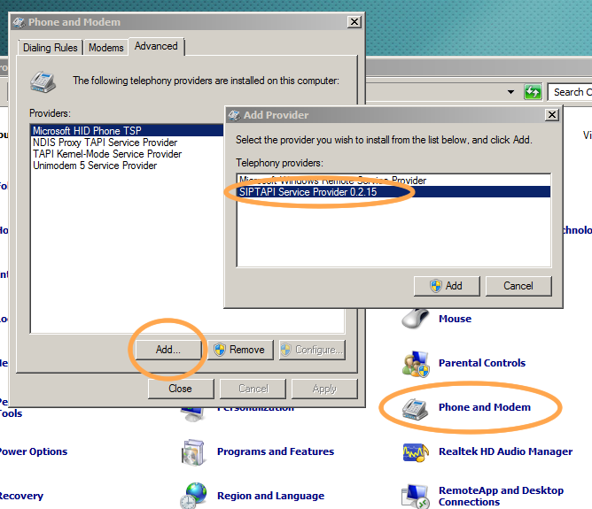 Quickly setup Click to Dial via VoIP SIP PBX on Windows